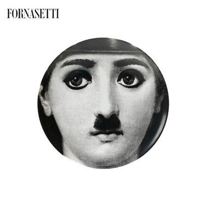 Picture of Fornasetti Wall Plate Tema e Variazioni black/white