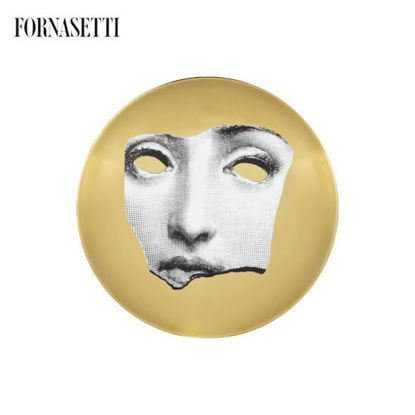 Picture of Fornasetti Wall plate Tema e Variazioni n°64 black/white/gold