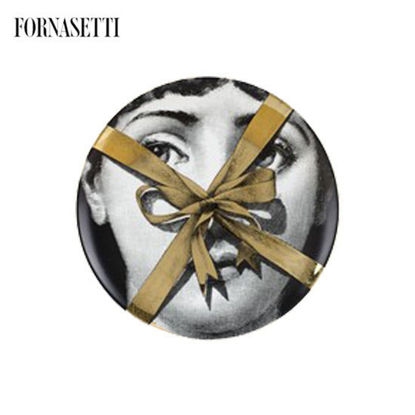 Picture of Fornasetti Wall plate Tema e Variazioni n°171 black/white/gold