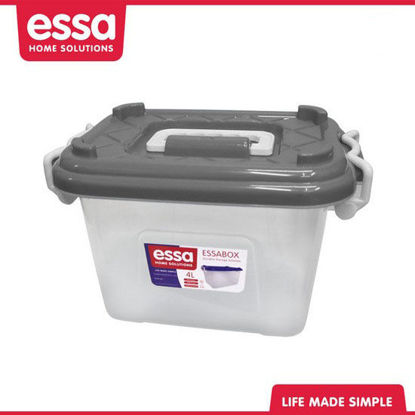 Picture of Essabox Durable Storage Solution 4L Gray