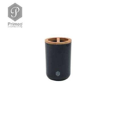 Picture of PRIMEO Premium Bamboo Tooth Brush Holder 7.2cm X 7.2cm X 10.8cm