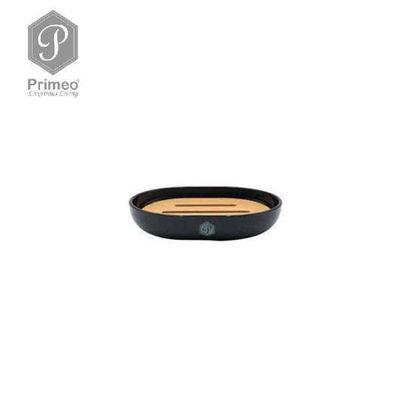 Picture of PRIMEO Premium Bamboo Soap Dish 12.3cm X 9.3cm X 2.5cm