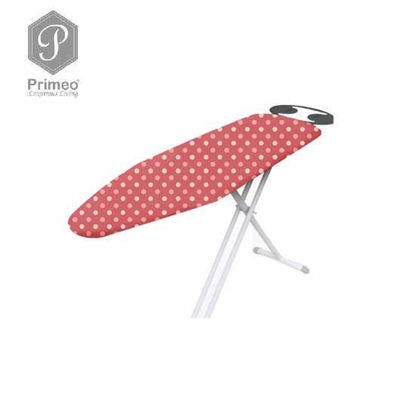 Picture of PRIMEO Premium Metal Ironing Board Cover w/ Foam Adjustable Height 110cm X 33cm X 86cm Coral