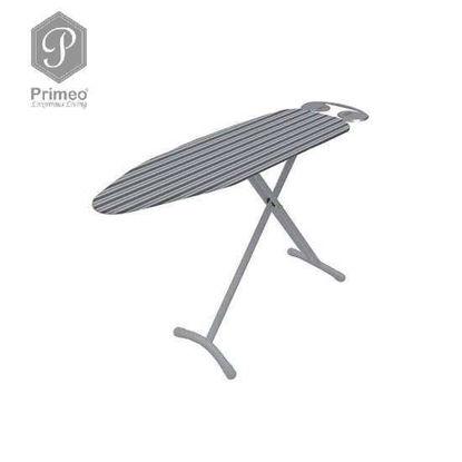 Picture of PRIMEO Premium Metal Ironing Board Cover w/ Foam Adjustable Height 110cm X 33cm X 86cm Grey