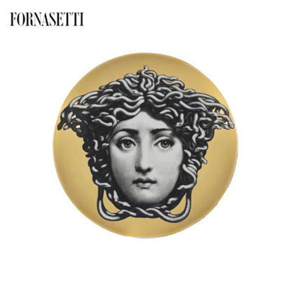 Picture of Wall Plate Tema e Variazioni n°217 black/white/gold