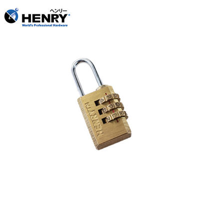 Picture of HENRY Brass Resettable Padlock Three Dials 21mm