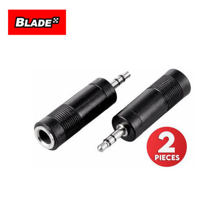 Picture of Blade 2Pcs Stereo Jack Male 3.5mm to 6.35mm (1/4 Inch)
