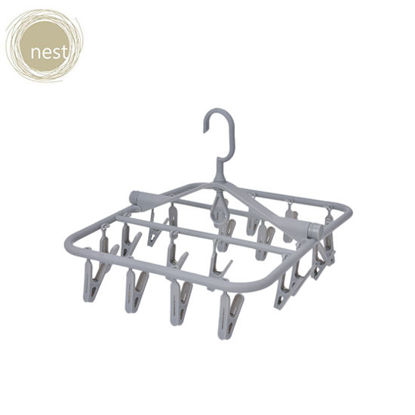 Picture of Nest Design Lab Premium Heavy duty Durable Foldable Clip Hanger 360 degree rotatable hook PP