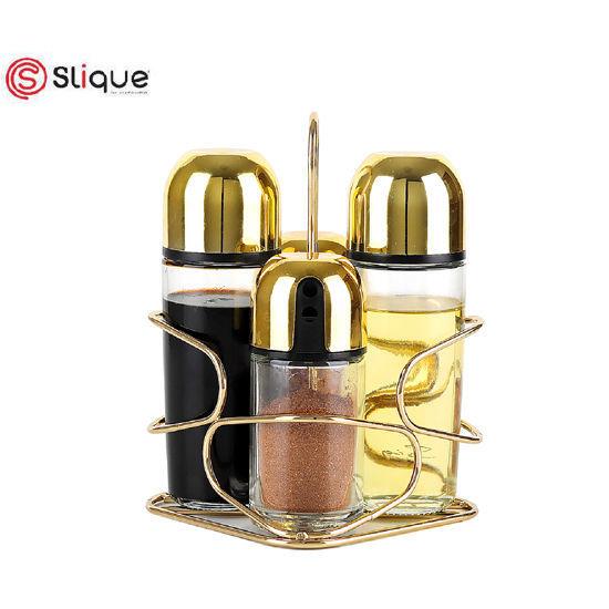 Picture of Signature by SLIQUE Premium Gold Condiment Set of 4