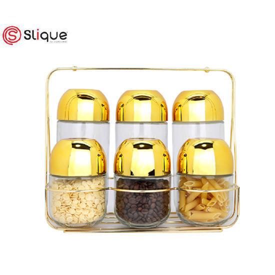 Picture of Signature by SLIQUE Premium Gold Spice Jars Set of 6