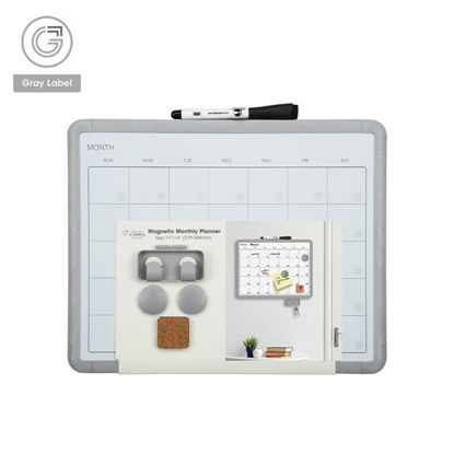 Picture of Gray Label Premium Monthly Planner Calendar Magnetic