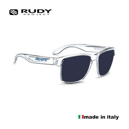Picture of Rudy Project Spinhawk Sunglasses in Crystal with Smoke Lenses (Size:60-17)