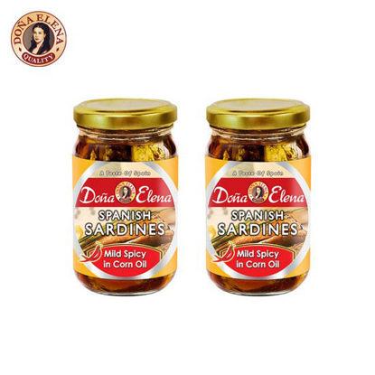 Picture of Doña Elena Spanish Sardines in Mild Spicy Corn Oil 228g x 2