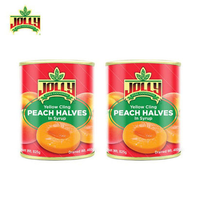 Picture of Jolly Peach Halves 825g x 2