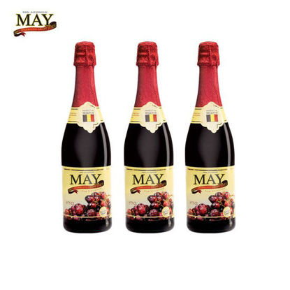 Picture of May Sparkling Red Grape Juice 750ml x 3