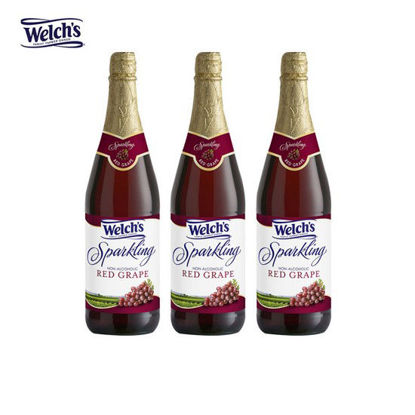 Picture of Welch's Sparkling Red Grape Juice Cocktail 25.4oz x 3