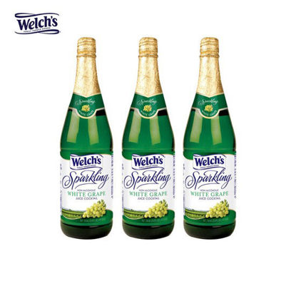 Picture of Welch's Sparkling White Grape Juice Cocktail 25.4oz x 3