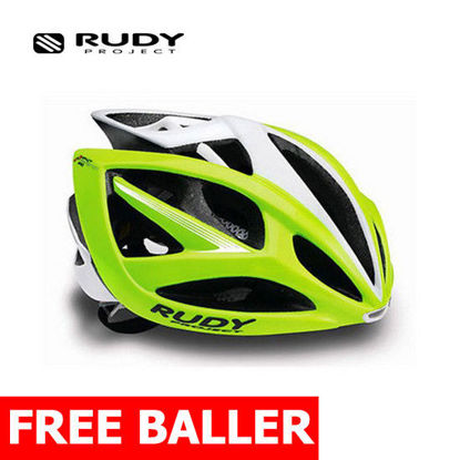 Picture of Rudy Project Cycling Helmet Airstorm Lime Fluo-White Small-Medium 54 - 58 cm