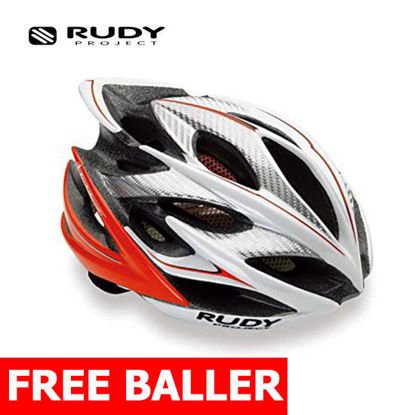 Picture of Rudy Project Cycling Windmax White/Red Fluo Shiny Large