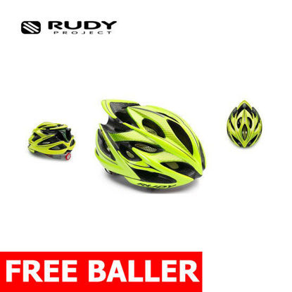 Picture of Rudy Project Cycling Windmax Yellow Fluo Shiny Small-Medium