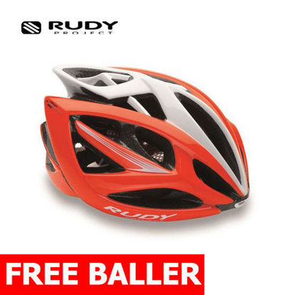 Picture of Rudy Project Helmet Airstorm Red Flu/White Shiny Large (59-61 cm)