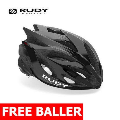 Picture of Rudy Project Helmet Rush  Black - Titanium (Shiny) Medium (55 - 58 cm)