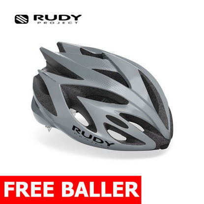 Picture of Rudy Project Helmet Rush  Grey - Titanium (Shiny) Medium (55 - 58 cm)