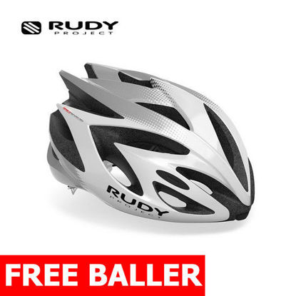 Picture of Rudy Project Helmet Rush  White - Silver (Shiny) Medium (55 - 58 cm)