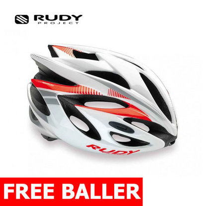 Picture of Rudy Project Helmet Rush White/Red Fluo Shiny Small (51 - 55 cm)