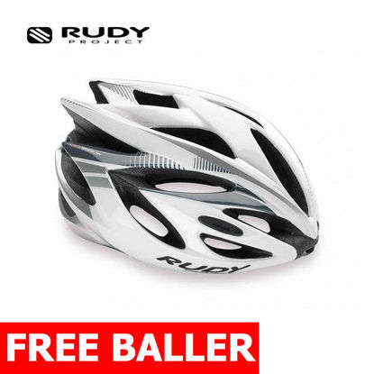 Picture of Rudy Project Helmet Rush White/Silver Shiny Small (51 - 55 cm)