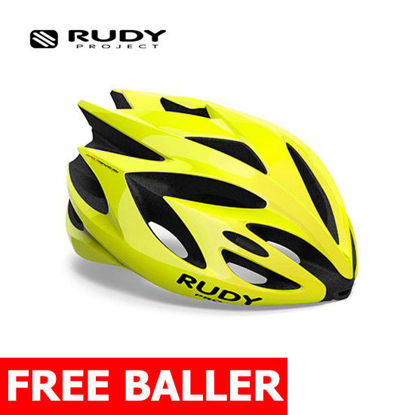 Picture of Rudy Project Helmet Rush Yellow Fluo Shiny Small (51 - 55 cm)