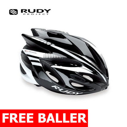 Picture of RUDY PROJECT HELMET RUSH/BLACK/WHITE SHINY/ Large 59 - 61 cm