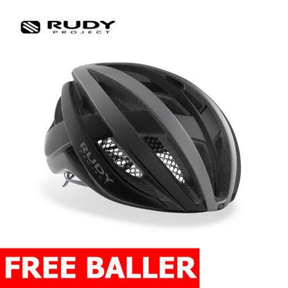 Picture of Rudy Project Helmet Venger Road Titanium - Black (Matte) Large (59-61 cm)