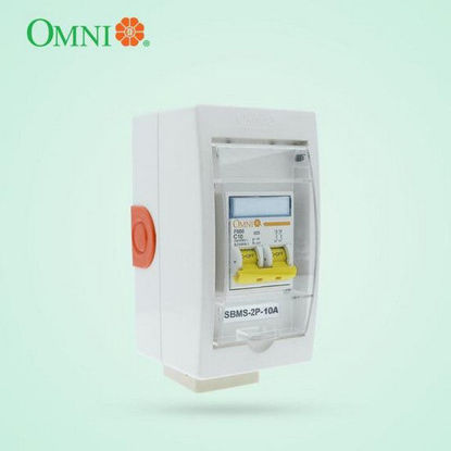 Picture of Omni Mini Safety Breaker with Socket 2 Poles 10A