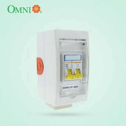 Picture of Omni Mini Safety Breaker with Socket 2 Poles 20A