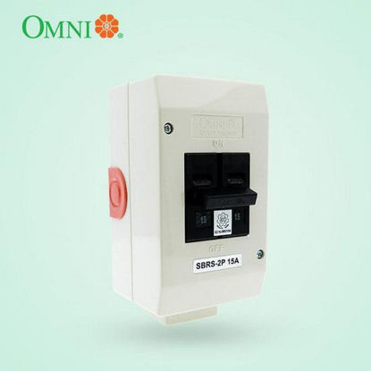 Picture of Omni Safety Breaker Regular with Socket 2 Poles 15A