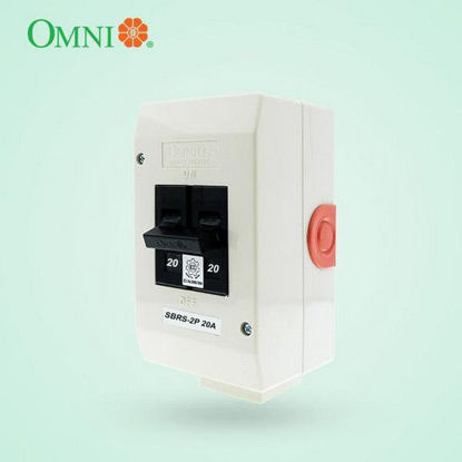 Picture of Omni Safety Breaker Regular with Socket 2 Poles 20A