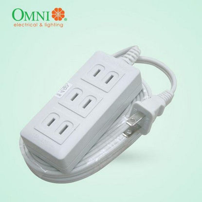 Picture of Omni ECO Extension Cord Set 3-Gang 4-Meter Wire 10A