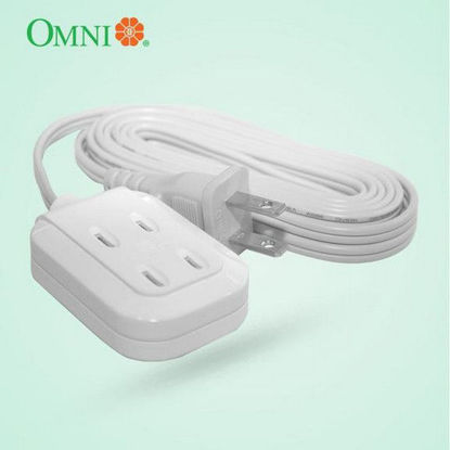 Picture of Omni Dual Portable Extension Cord Set 1000W 6A 250V 6 Meter