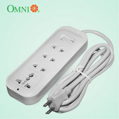 Picture of Omni Extension Cord Set with Universal Outlet and Switch 2500W 10A 250V