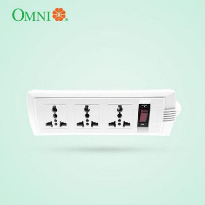 Picture of Omni Universal Outlet Extension Cord with Switch 1.83 Meter Cord Length 2500W 10A 250V 3 Gang