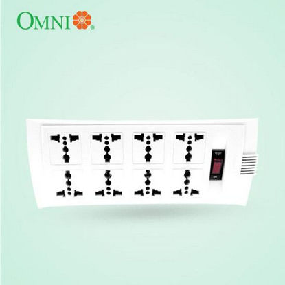 Picture of Omni Universal Outlet Extension Cord with Switch 1.83 Meter Cord Length 2500W 10A 250V 8 Gang