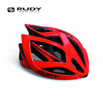 Picture of Rudy Project Airstorm Cycling Helmet in Shiny Fire Red Small-Medium HL540101 (Size:54-58)