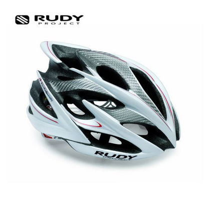 Picture of Rudy Project Windmax Cycling Helmet in White - Red - Silver HL521902 Large (Size:59-61)