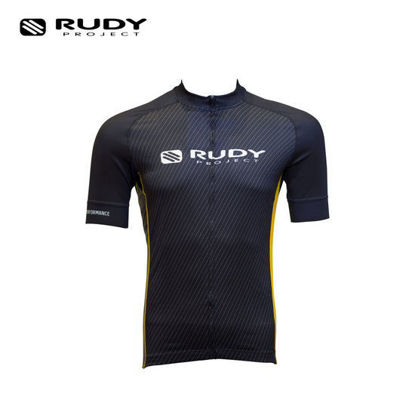 Picture of Rudy Project Apparel Cycling Jersey Black And Yellow