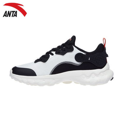 Picture of Anta Men Running Culture Running Shoes - White-Black 8