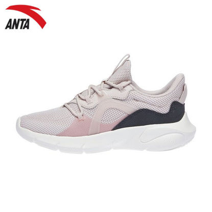 Picture of Anta Super Flexi Women's Sneakers - Ivory White-Muddy Blue-Purplish Red