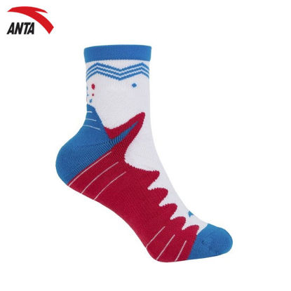 Picture of Anta Sports Socks - CrimsonGlory/White