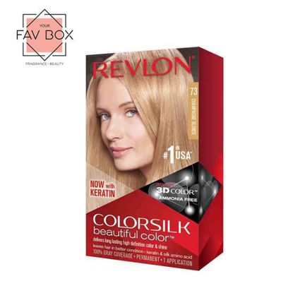 Picture of Revlon Colorsilk Beautiful Color with Keratin 130ml Champagne Blonde No.73
