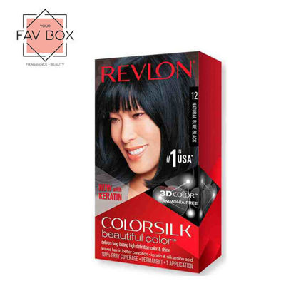 Picture of Revlon Colorsilk Beautiful Color with Keratin 130ml Natural Blue Black No.12